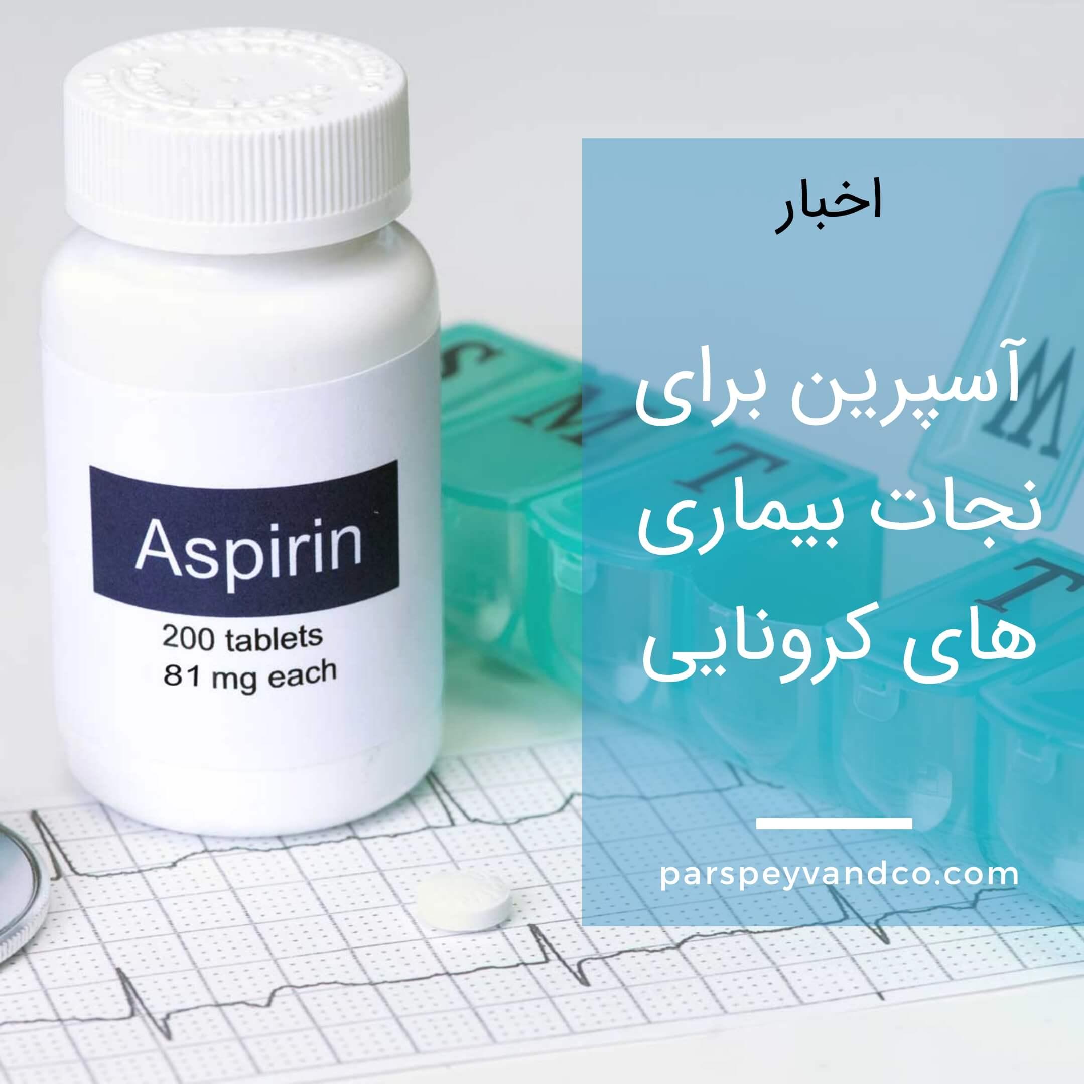 آسپرین برای کاهش شدت بیماری کرونا