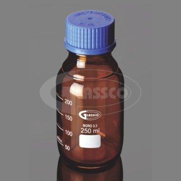 بطری شیشه ای قهوه ای آزمایشگاهی